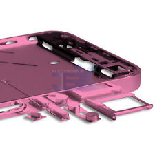 Mirror/Chrome Pink Midplate Midframe Mid Frame Bezel Chassis For GSM iPhone 4/4G