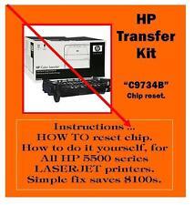 HP 5500 series Laserjet Printer TRANSFER Kit How to RESET dont replace C9734B