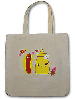 Bored Inc. Mustard and Hotdog Tote Bag ~ Officially Licensed