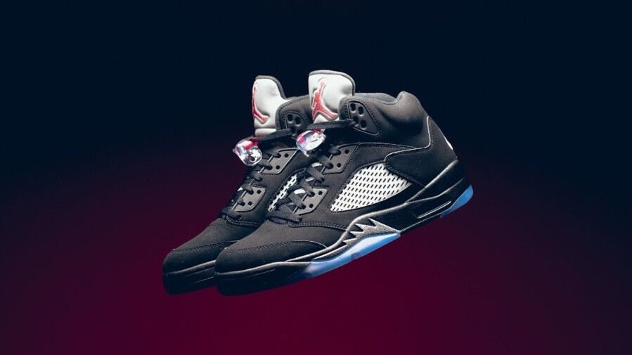 Nike air jordan 5 retro - us og sz: us - - messungen 7 metallic 15669e