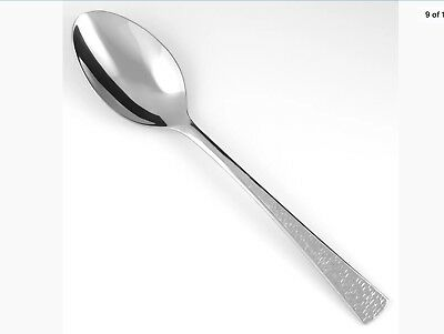 Gorham BISCAYNE Stainless Hammered 18//10 Glossy Flatware Teaspoon Lot of 2