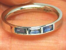 18ct Gold 18K white Gold Ceylon Sapphire Eternity ring size N