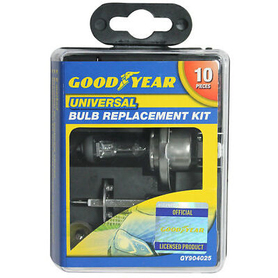 Goodyear Compact Universal Bulb Replacement Kit, inc H1, H4 and H7 bulbs
