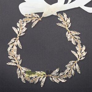 Beauty Leaf Crystal Hair Vine Headband Tiara Wedding Bridal Hair Accessories USA