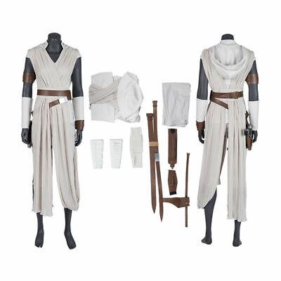 Star Wars 9 The Rise of Skywalker Costume Rey Cosplay Suit Adult Halloween Prop