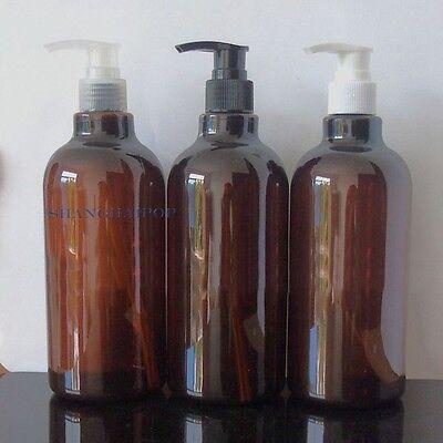 2 X Lotion Pump Bottle Makeup Shampoo Shower Gel Travel Container Refill 500ML