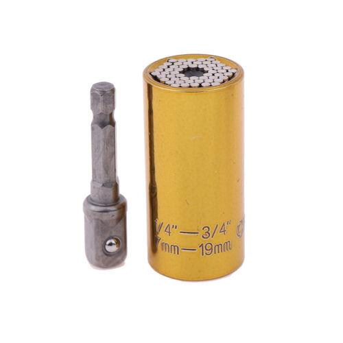 Universal 7-19mm Power Drill Torque Wrench Head Set Magic Socket Sleeve TooR Kq