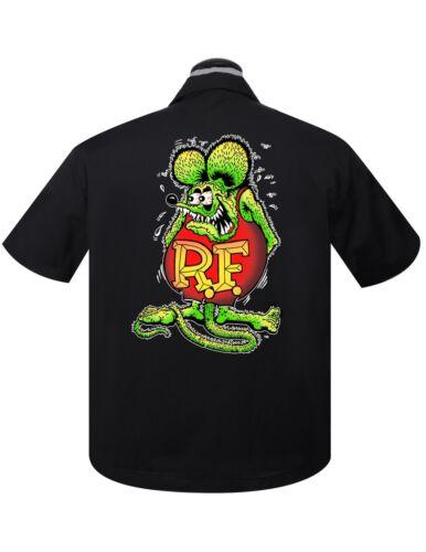 Steady Clothing RAT FINK Mouse Garage Bowling Shirt Retro Vintage Authenitc New