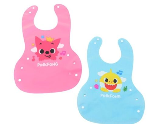 Pinkfong Baby Shark Soft Silicone Bib Easy to Clean and Use For Baby Kids