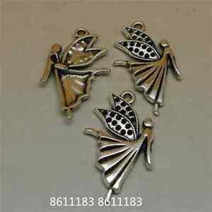 15pc-Tibetan-Silver-angel-Pendant-Charms-Beads-Jewellery-Craft-GP745