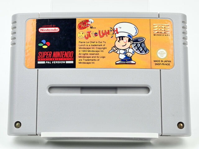 Super Nintendo *Pierre Le Chef is... Out to Lunch* SNES Modul