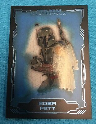 Star Wars Masterwork 2018 Blue Base Card 16 Boba Fett