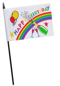 Happy 70th Birthday Small Hand Waving Flag