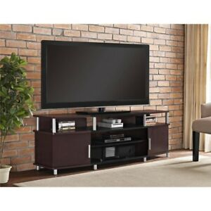 Wooden Tv Stand Cherry 70 Inch Television Entertainment Media