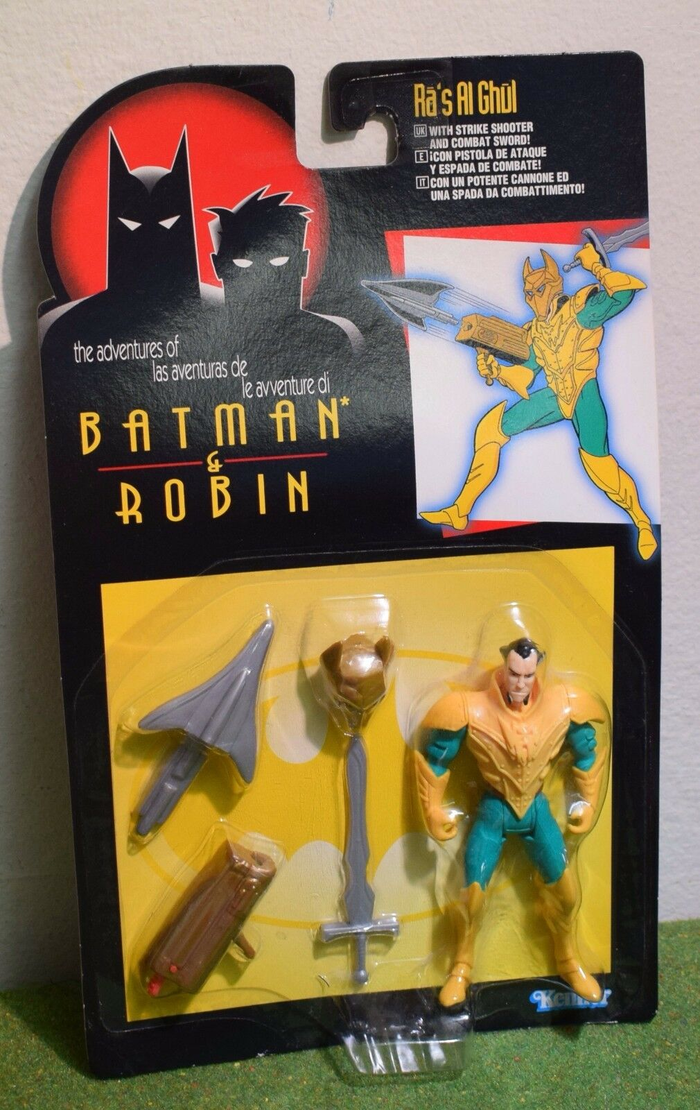 KENNER THE ADVENTURES OF BATMAN & ROBIN RA'S AL GHUL ACTION FIGURE