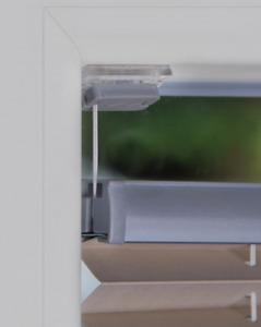 Plissee ohne Bohren Faltrollo auf Maß mit Kleben Montage im Glasfalz