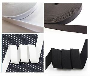 UK Cuff Sewing Stretch Flat Elastic Waistband Black /& White Tailoring