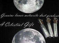 Meteorite Genuine MOON lunar dust silver necklace pendant vial jewellery