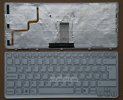 FOR SONY VAIO SVF14221CLW SVF14321CLW Keyboard NO Backlit Spanish  Teclado WHITE