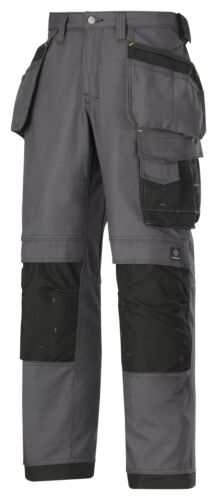 Snickers Workwear 3214 Canvas Holster Work Trousers Grey 5804