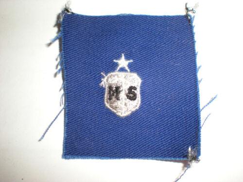 USAF SENIOR MEDICAL SVCS BADGE COLOR ON BLUE TWILL