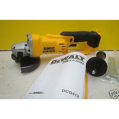 """DEWALT XR 18V DCG412 5"""" 125MM ANGLE GRINDER BARE UNIT + DEEP TSTAK CASE"""