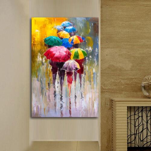 Modern Canvas Wall Art Print Umbrella  Painting Home Decor Picture Unframed