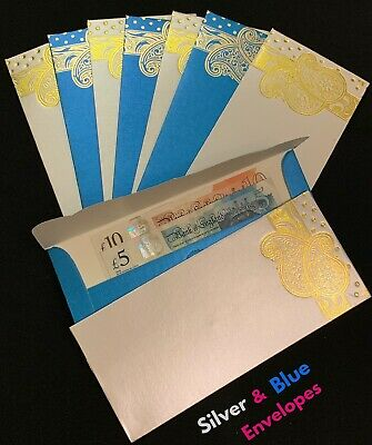 Glitter Envelope Money Gift Xmas Wedding Favour Cash Wallet Shagun ~ Silver