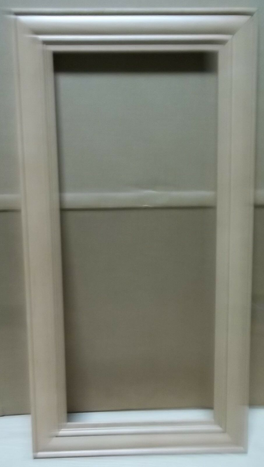 2 FRAME CABINET DOORS PAINT GRADE MAPLE OPEN FRAME 15 X 28 3 4
