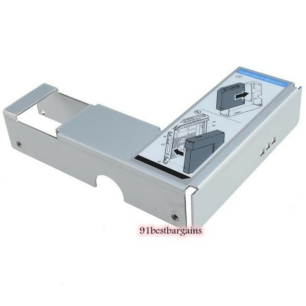 "(10) Dell 9W8C4 Y004G 3.5"" to 2.5"" Adapter F238F/G302D/X968D SAS/SATA Tray Caddy"