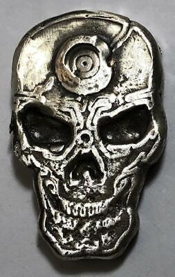 "1 Ozt MK BARZ  /""Skull Rounds/"" .999 Fine Silver"
