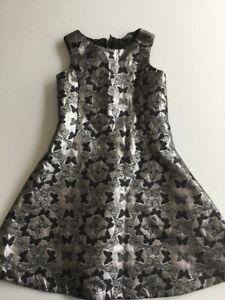 Armani-Girls-Silver-And-Black-Dress