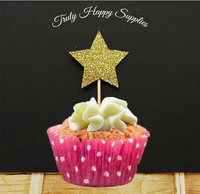 Princess Crown Cupcake Topper  6 or 12 in 29 glitter colours Birthday cake