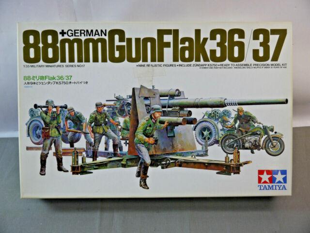 Tamiya 35017 German 88mm Gun Flak 36/37 Kit Modellismo 1:3 5 Nuovo (F7)