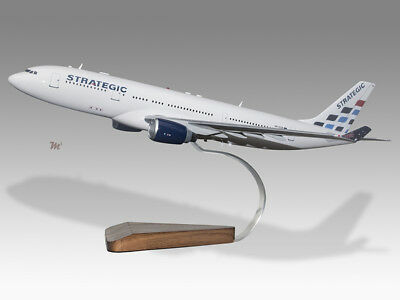 2019 Fashion Airbus A330-200 Strategic Airlines Solid Mahogany Wood Handcrafted Desktop Model