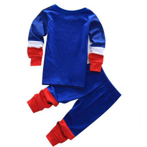 Baby Kids Toddler Boys Cartoon Top Pants Pajamas Sleepwear Nightwear Clothes Set