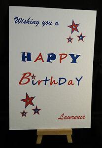 Personalised Handmade Happy Birthday Card Husband Uncle