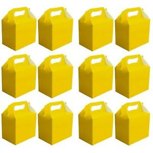 Details About Plain Colour Party Food Boxes Yellow Kids Birthday Meal Wedding Gifts Loot Bags