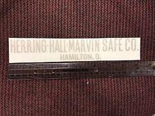 Herring Hall- Marvin Safe Co. Lettering