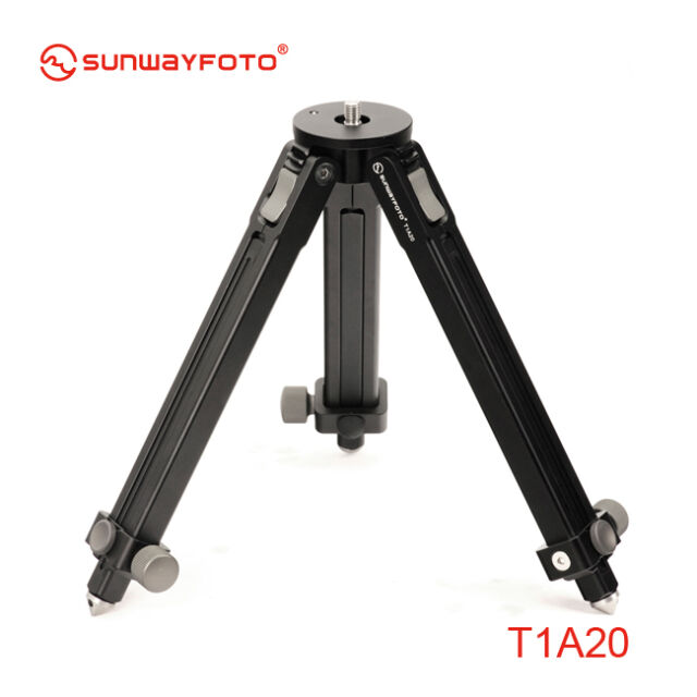 SunwayFoto T1A20 2 Sections Aluminum Tripod 46cm Max Height 25kg Capacity