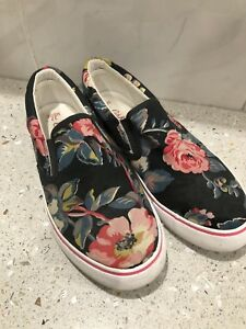 270bd4803 CATH KIDSTON FLORAL PRINT CANVAS SLIP ON SHOES, UK SIZE 4 (37) | eBay