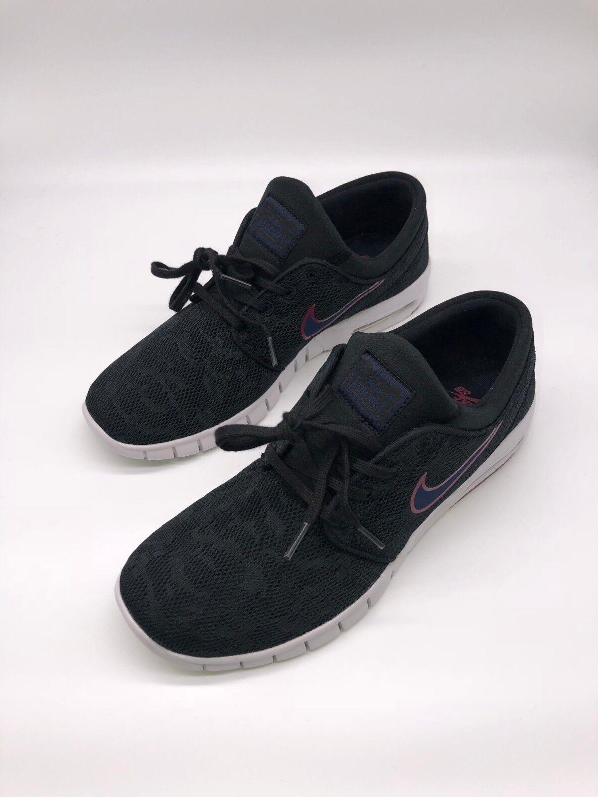 Nike Stefan Janoski Max-UK Talla 6.5 - Negro blancoo Rojo (631303-027)
