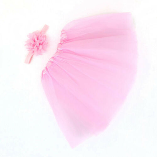 Newborn Baby Girls Tutu Skirt /& Headband Boutique Photoshoot Prop Outfit Set UK