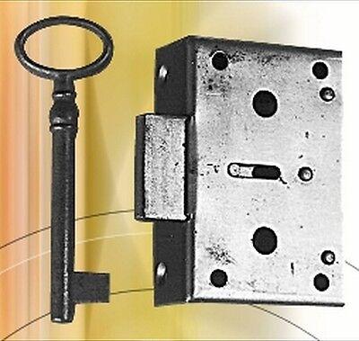 Kastenschloß Eisen Dorn 20 mm Möbelschloss Schlüssel /& Schlösser Antiquitäten