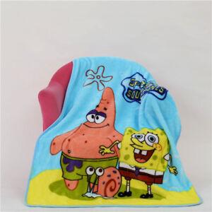 Cartoon-SpongeBob-SquarePants-Kid-039-s-Blanket-Soft-Flannel-Blanket-Throw-70-100cm
