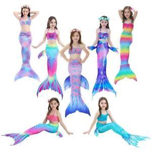 471fe4e27573f 3pcs Kids Girls Fish Tail Bikini Set Swimming Fishtail Swimmable ...
