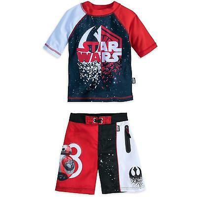Star Wars Toddler Boys Rash Guard and Swim Trunks Set
