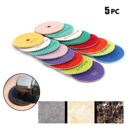 Diamond Polishing Pad Wet Grinding disc 3 inch Granite Stone Concrete Marble 5pc