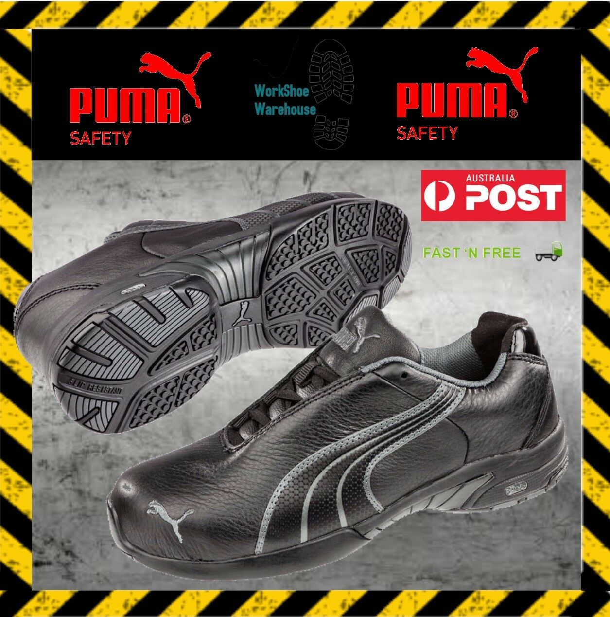 Puma Work shoes 642857 Velocity Women's Anti Slip Steel Toe Cap Safety shoes