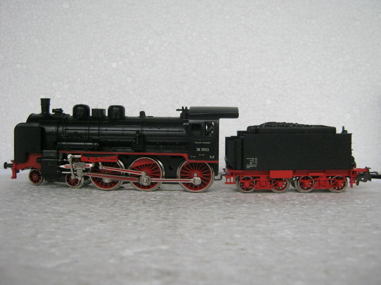 HO/AC 3099 a Vapore Locomotiva Br 38 DRG 3553  co/39-44r7/15